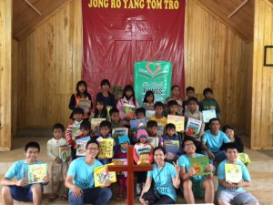 Lovingbooks organization gave English children's books for kids in Dalat province, Vietnam